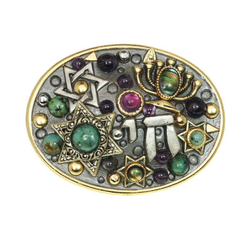 Menorah Judaica Jumble Pin