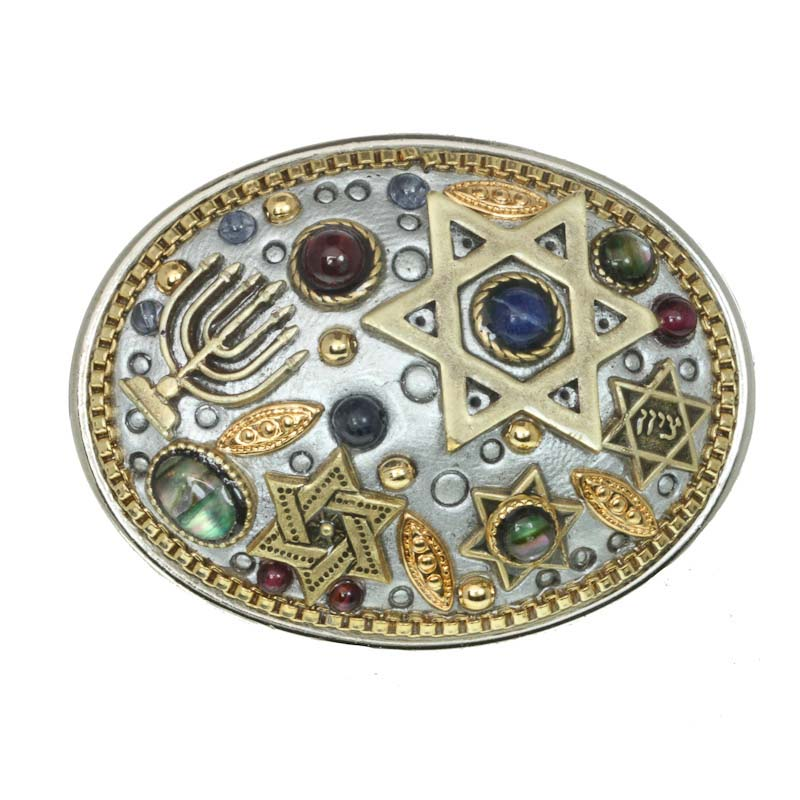 Abalone Judaica Jumble Pin