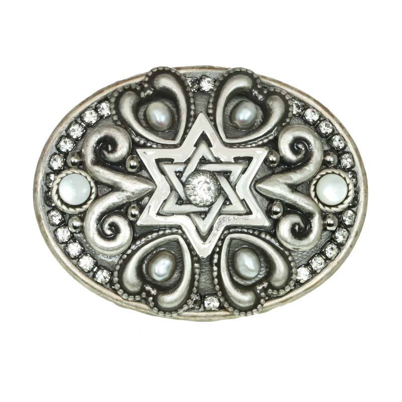 Pearl Star of David Pin