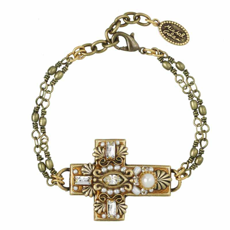 Royal White Cross Bracelet