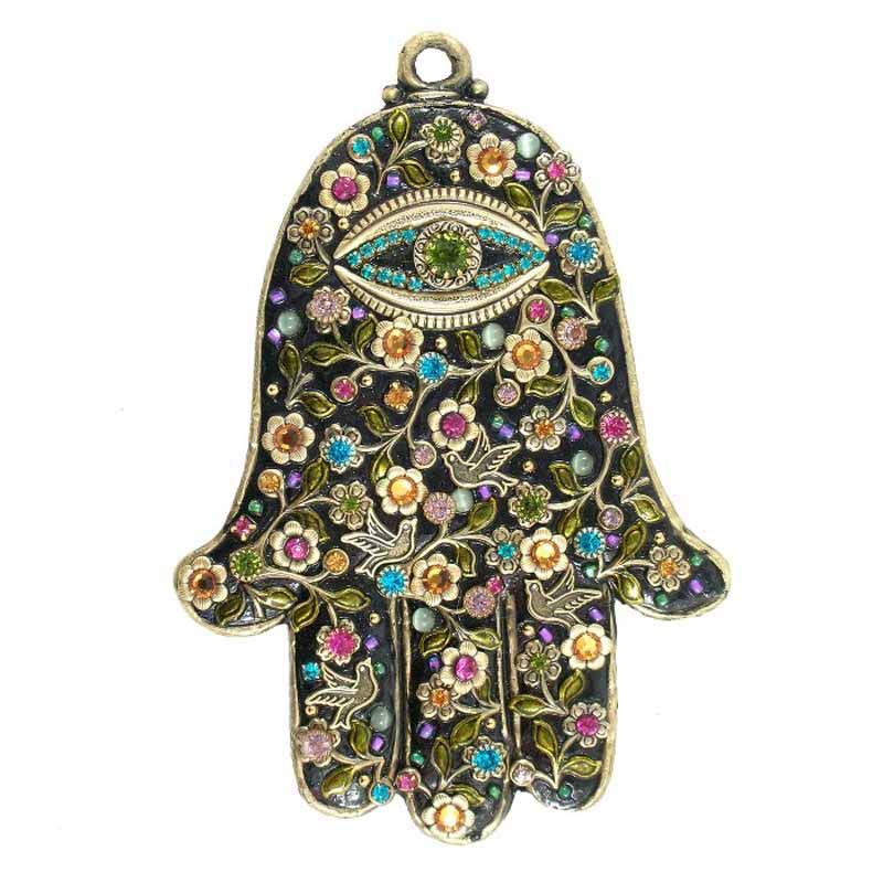 Midnight Garden Wall Hamsa
