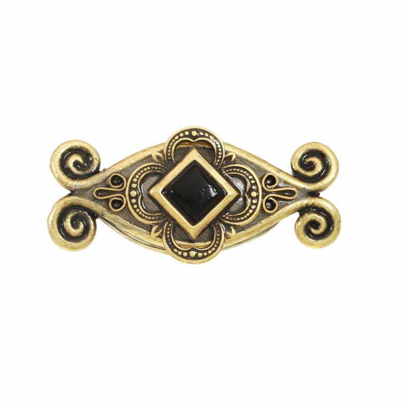 Black onyx drawer pull, handmade at Michal Golan studios USA