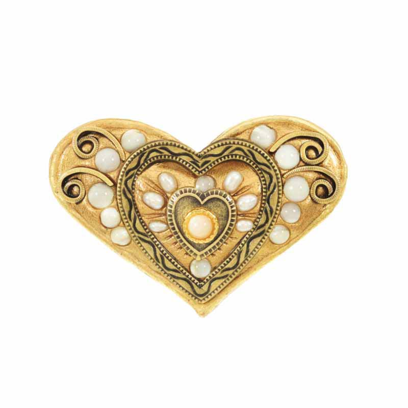 Heart shaped drawer pull, handmade at Michal Golan studios USA