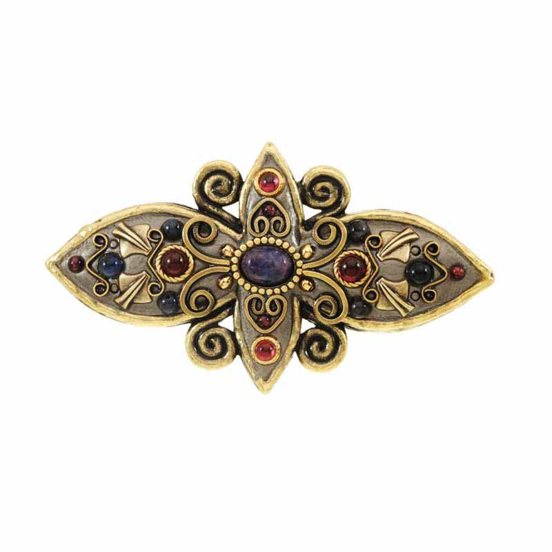Long flower drawer pull, handmade at Michal Golan studios USA