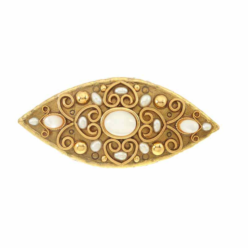 Eye shaped drawer pull, handmade at Michal Golan studios USA