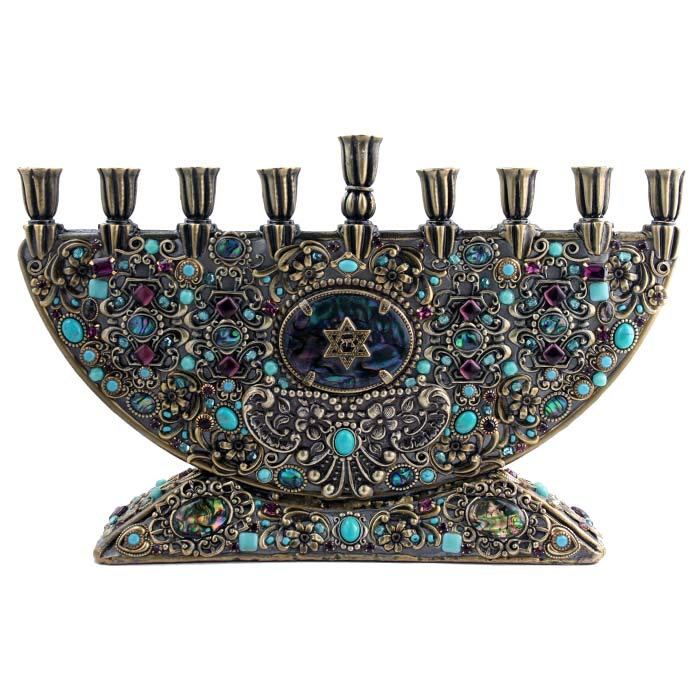 Enigmatic Abalone Menorah