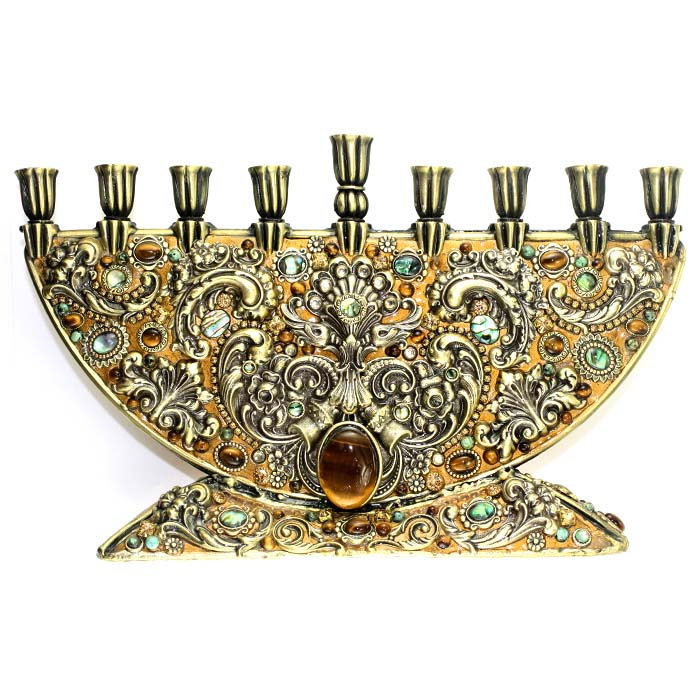Tiger Eye Menorah