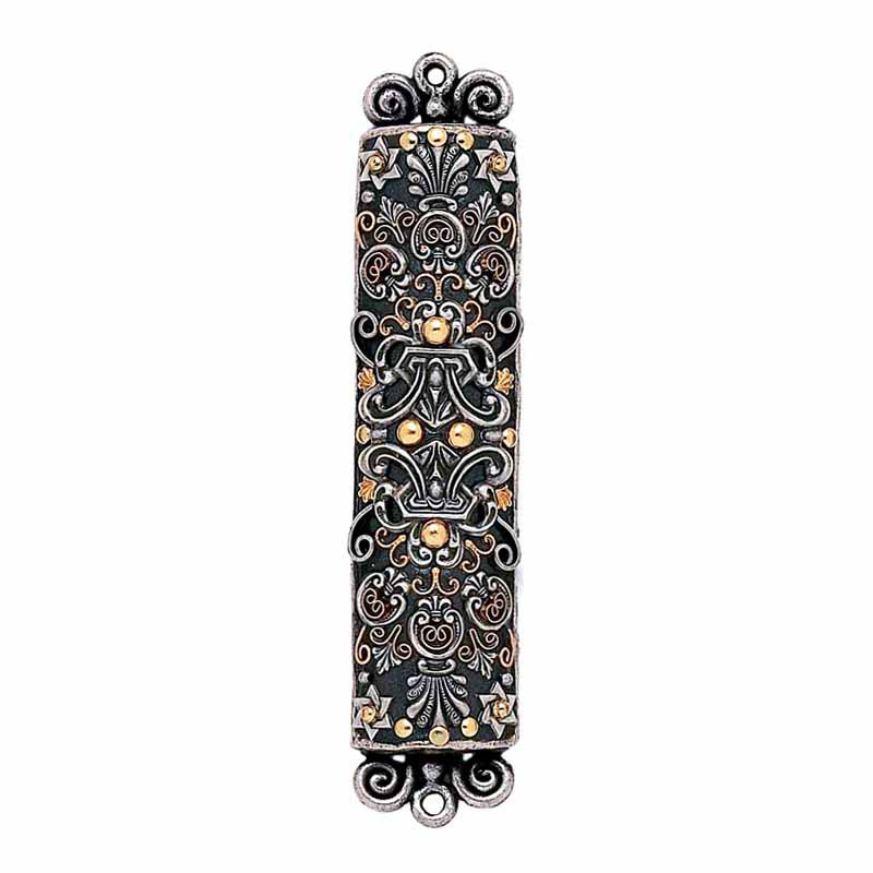 Mezuzah in Metallics