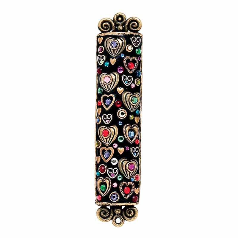 Mezuzah with Hearts Large