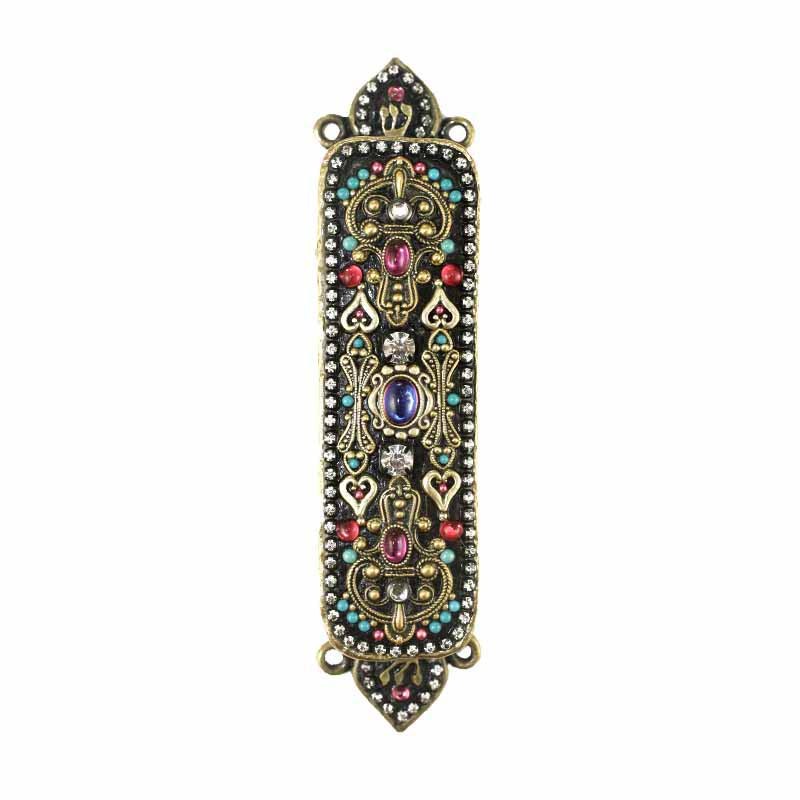 Mezuzah in Dark Multi-Bright