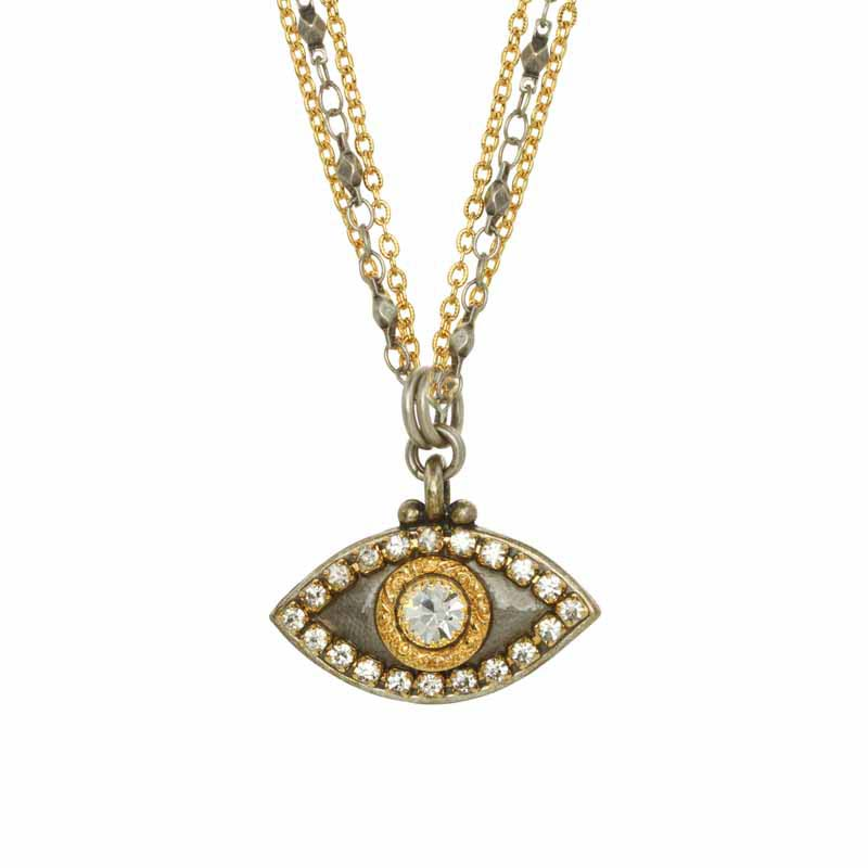 Gold & Silver Evil Eye Necklace