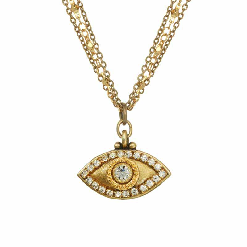 Classic Gold Evil Eye Necklace