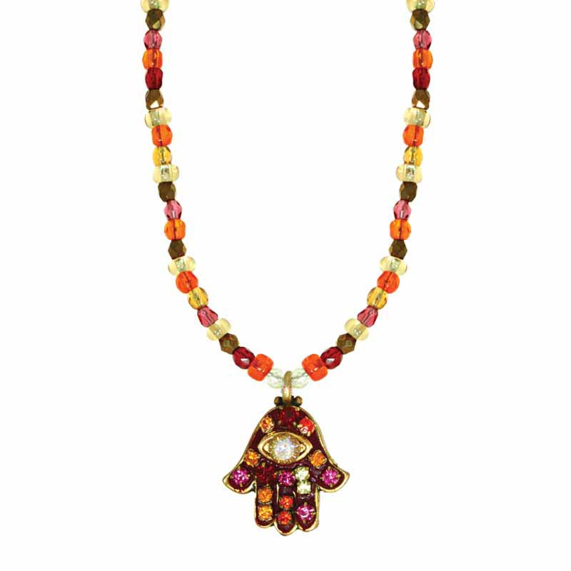 Autumn Hamsa Necklace