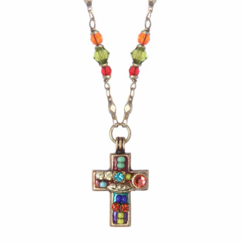 Multi Bright Cross Necklace