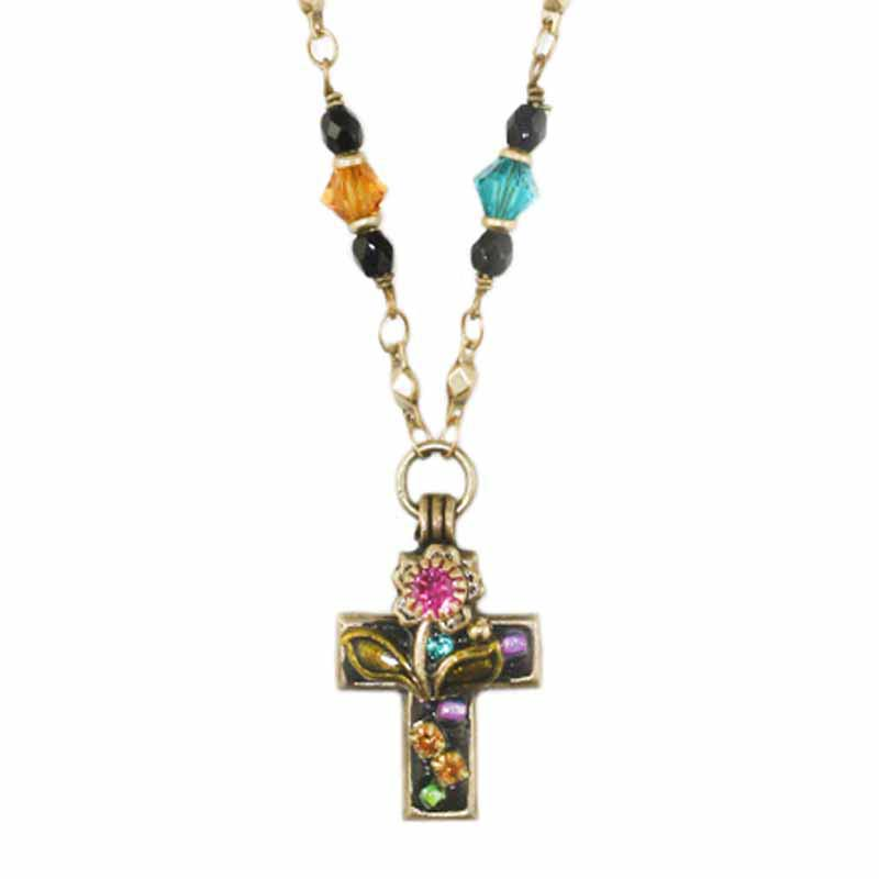 Midnight Garden Cross Chain Necklace