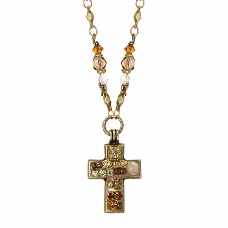 Earth Tones Cross Necklace