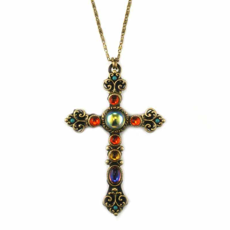 Kaleidoscope Cross Necklace