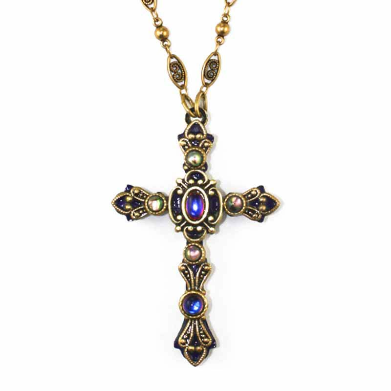 Violet Cross Necklace
