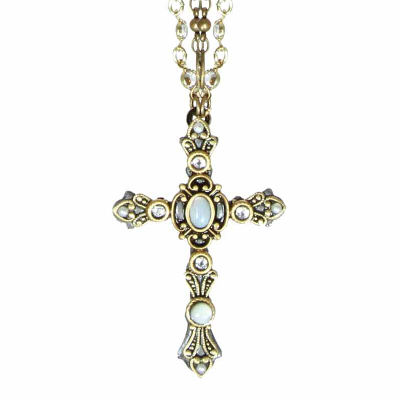 Mother Pearl Cross Necklace