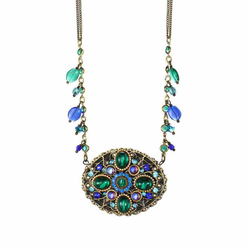 Peacock Oval Necklace