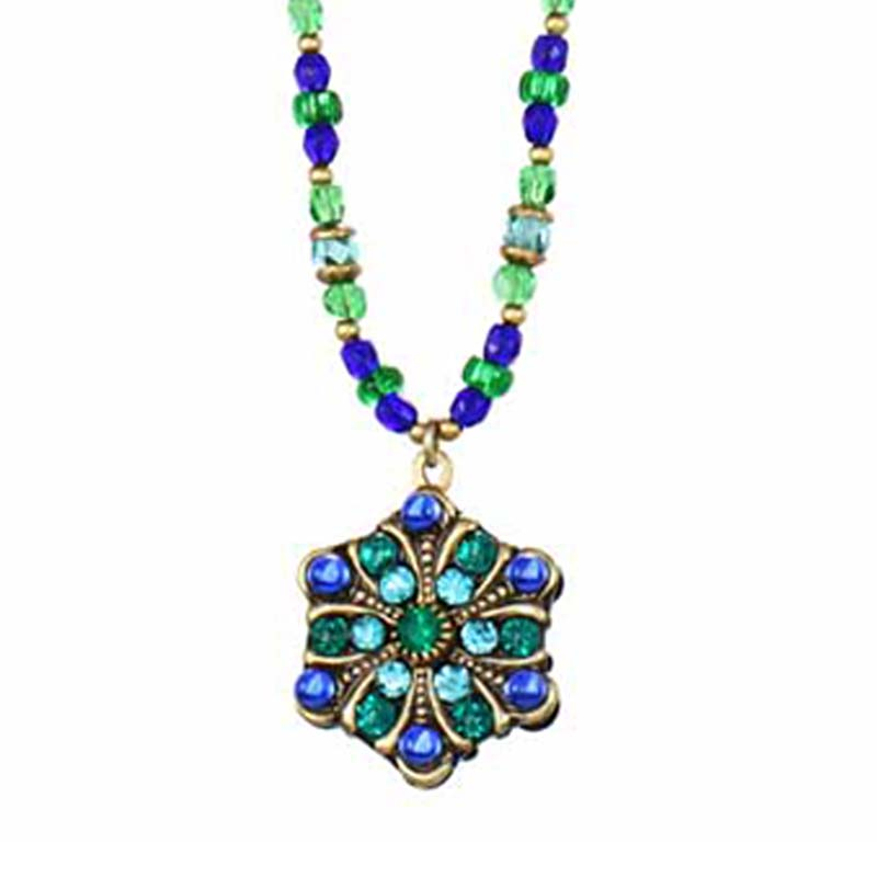 Peacock Star Necklace
