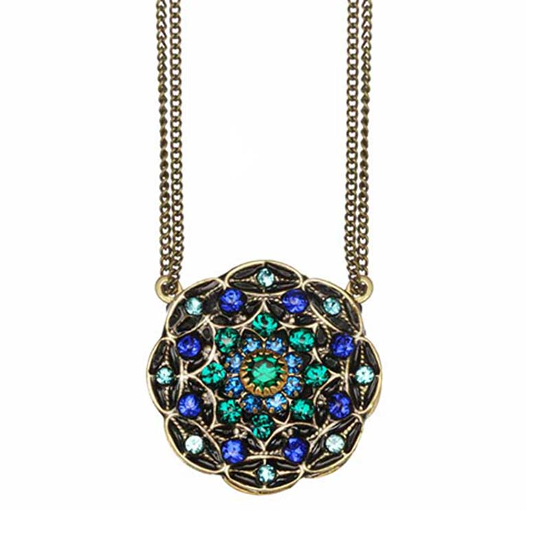 Peacock Flower Necklace