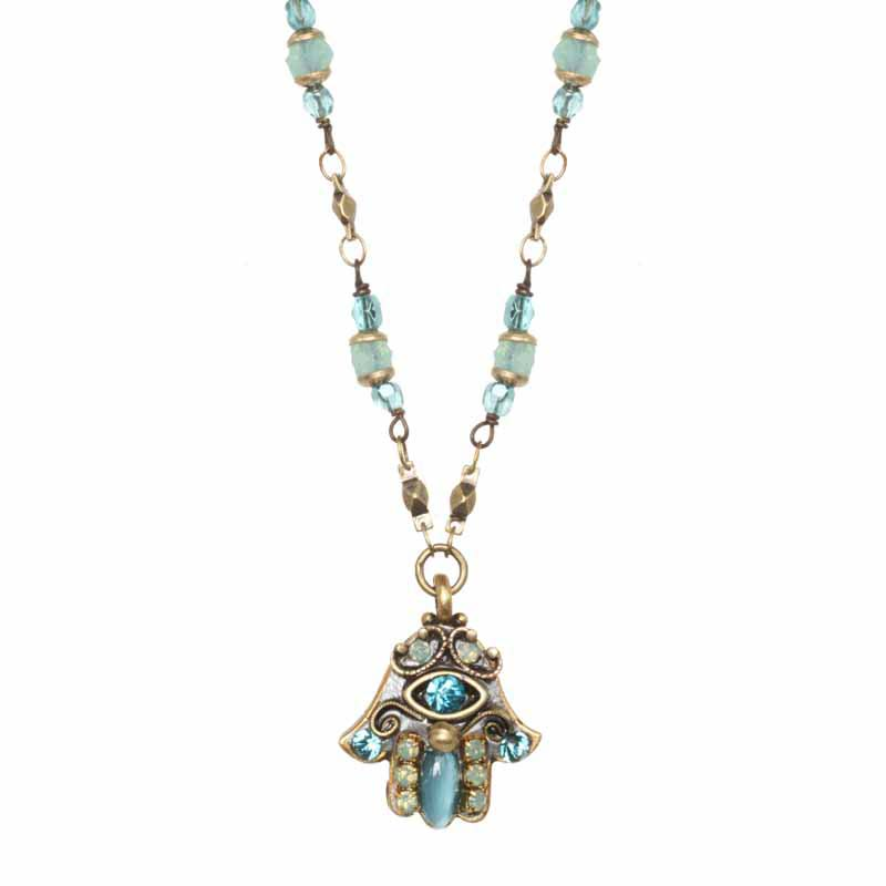 Cat's Eye Hamsa Necklace