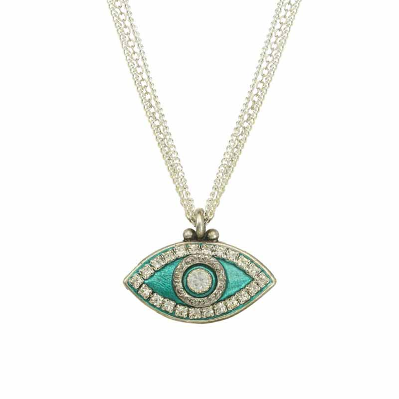 Mint Green Evil Eye Necklace