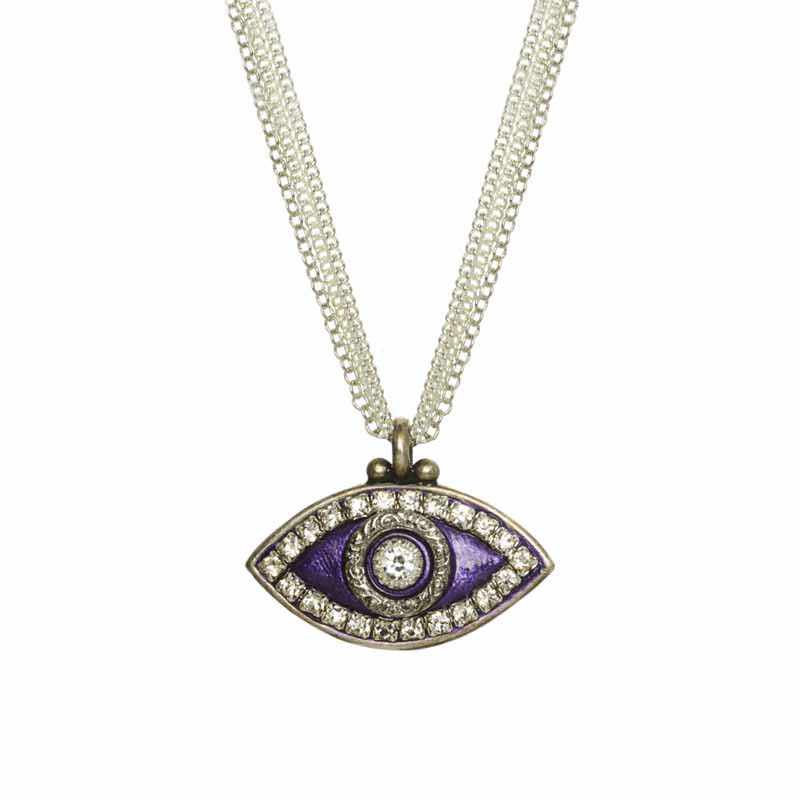 Deep Purple Evil Eye Necklace