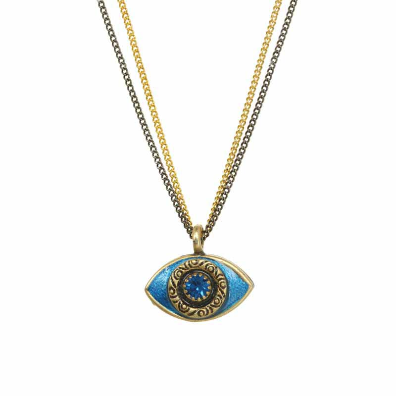 Mini Blue Evil Eye Necklace