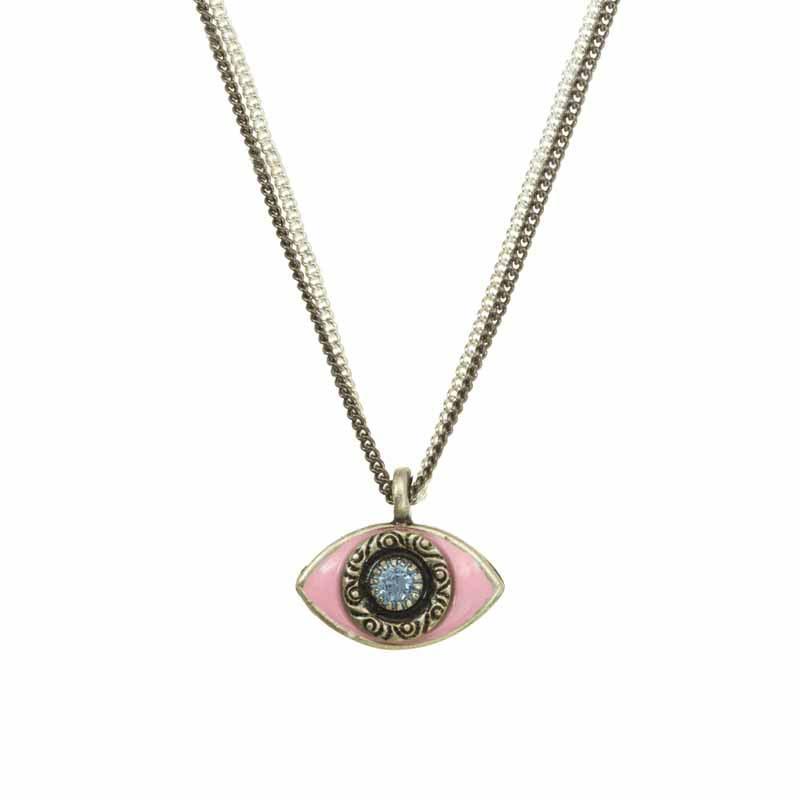 Mini Baby Pink Evil Eye Necklace