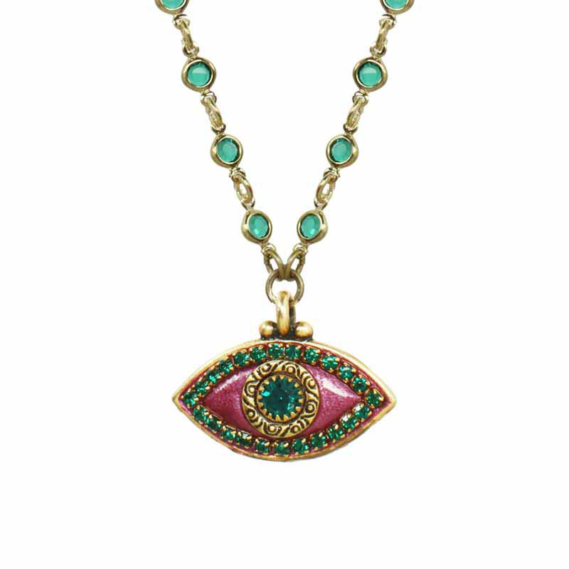 Watermelon Evil Eye Necklace