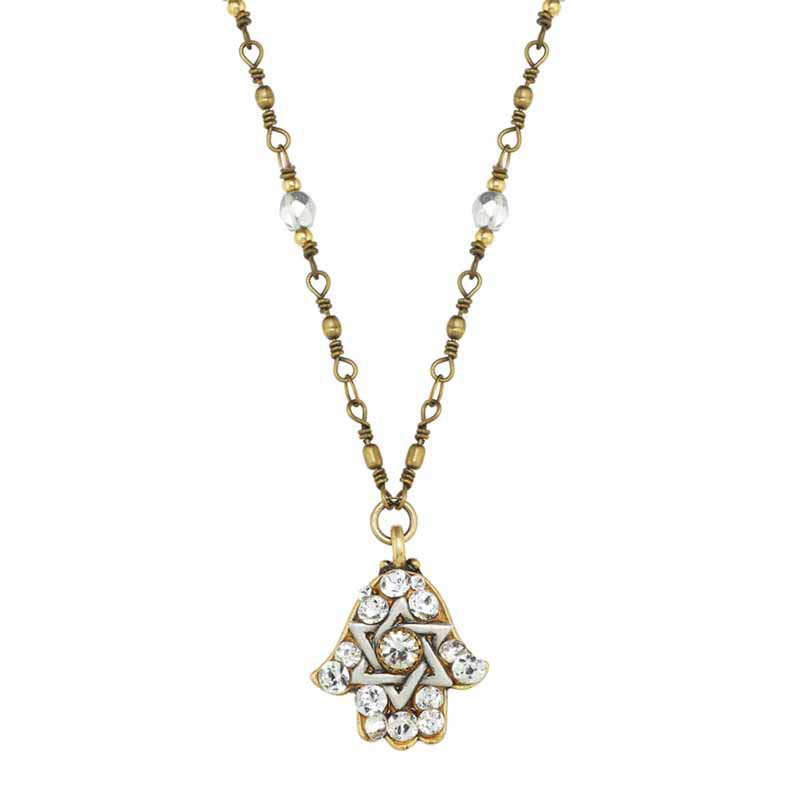 Star of David Hamsa Necklace