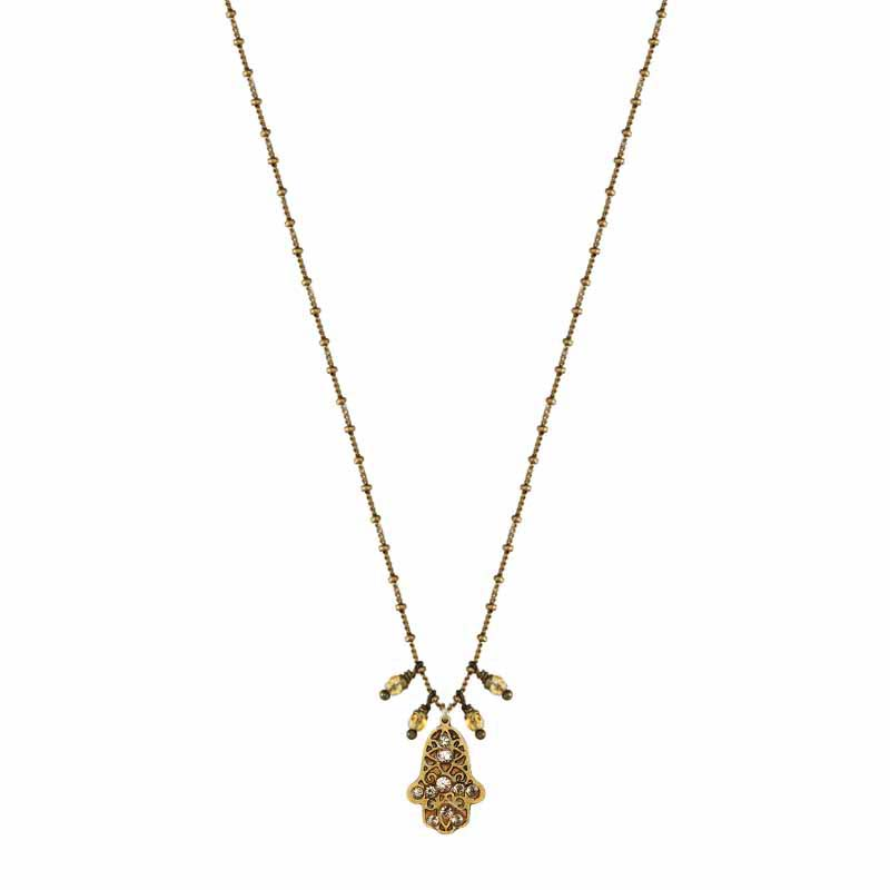 Dangling Gold Hamsa Necklace