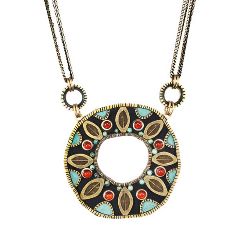 Earth Open Circle Necklace