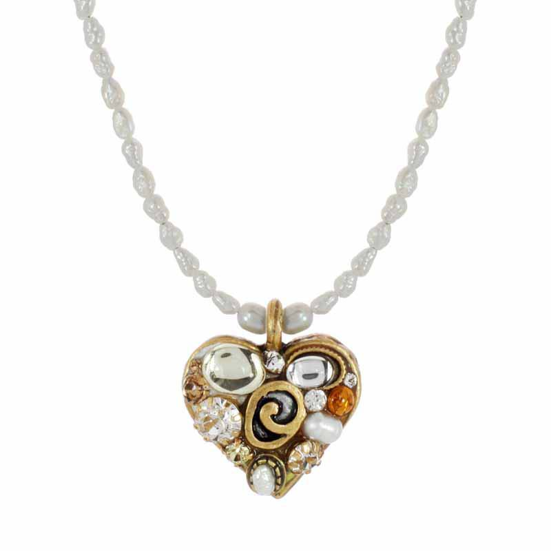 Champagne Small Heart Necklace