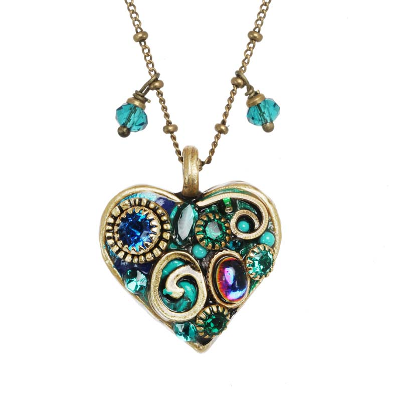 Emerald Heart Pendant Necklace