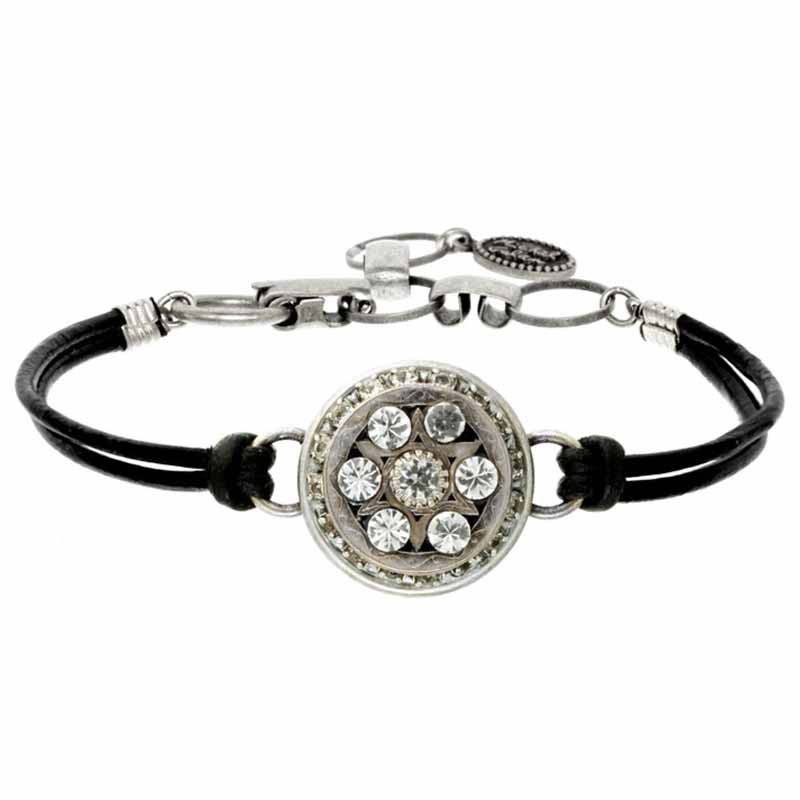 Round Crystal Star of David Bracelet