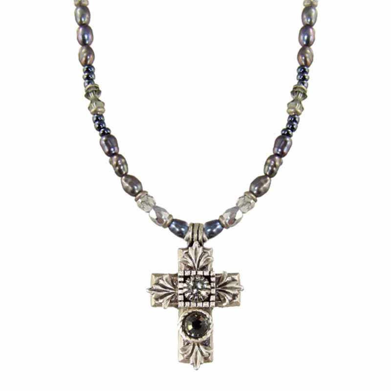 Small Metallic Cross Necklace