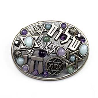 Amethyst Judaica Jumble Pin