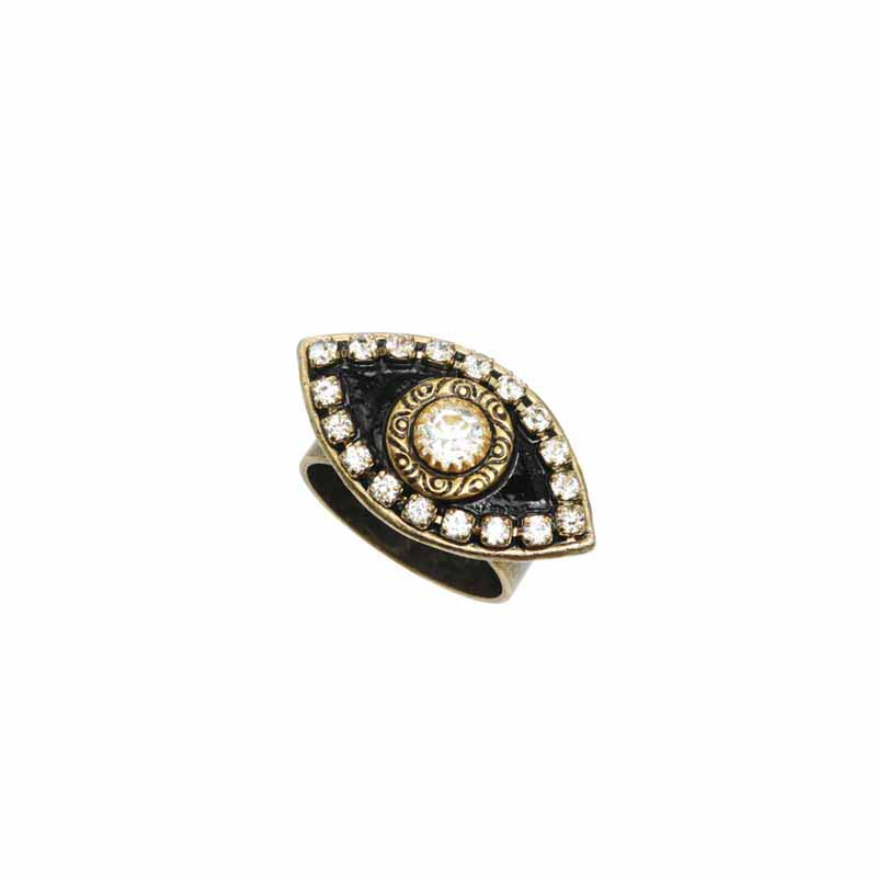 Black & White Evil Eye Ring