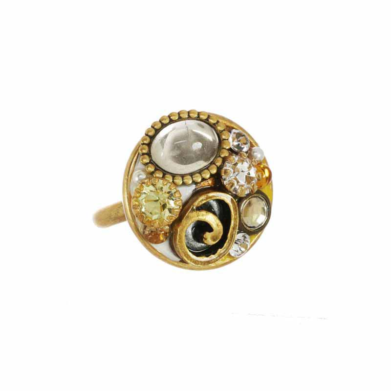 Champagne Small Circle Ring