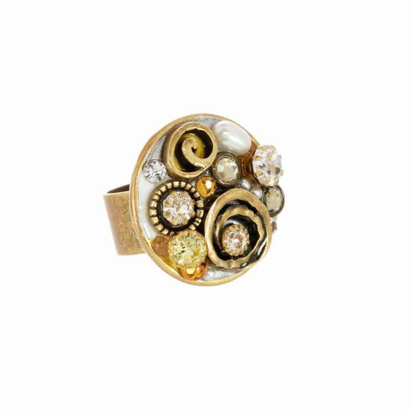 Champagne Large Circle Ring