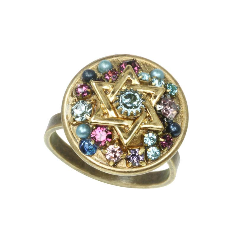 Circle Star of David Cocktail Ring