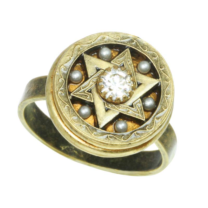 Circle Star of David Classic Ring