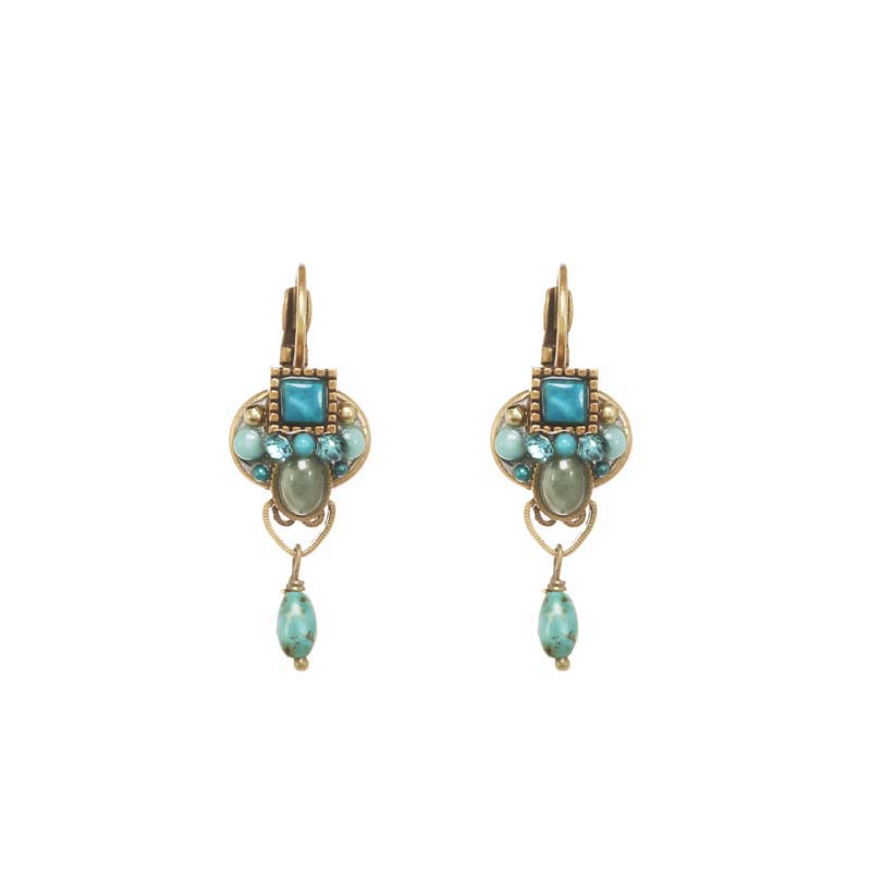 Nile Oval Dangling Earrings