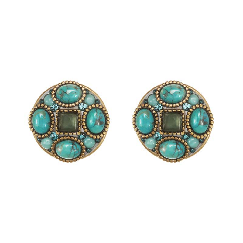 Nile Circle Post Earrings
