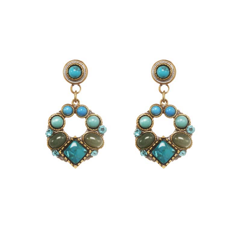 Nile Open Circle Earrings