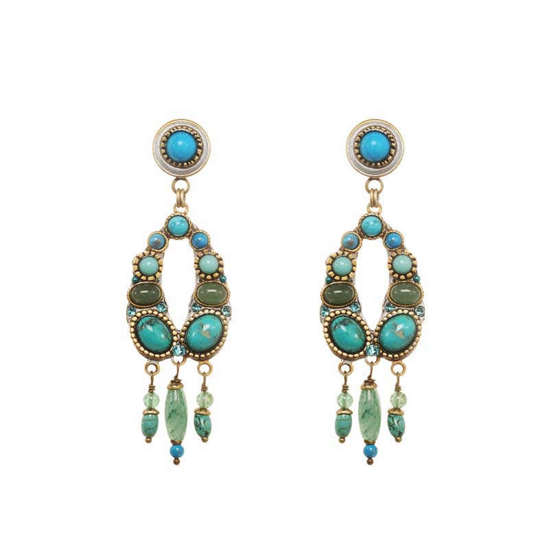 Nile Open Oval Earrings