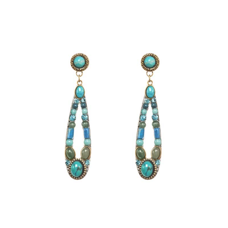 Nile Long Open Oval Earrings